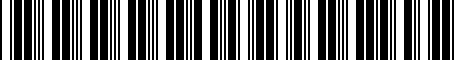 Barcode for 000061100H