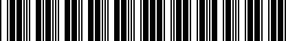 Barcode for 4G0071897