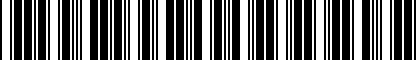 Barcode for 80A092115