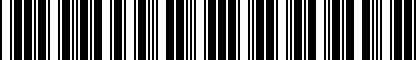Barcode for 8S8071126