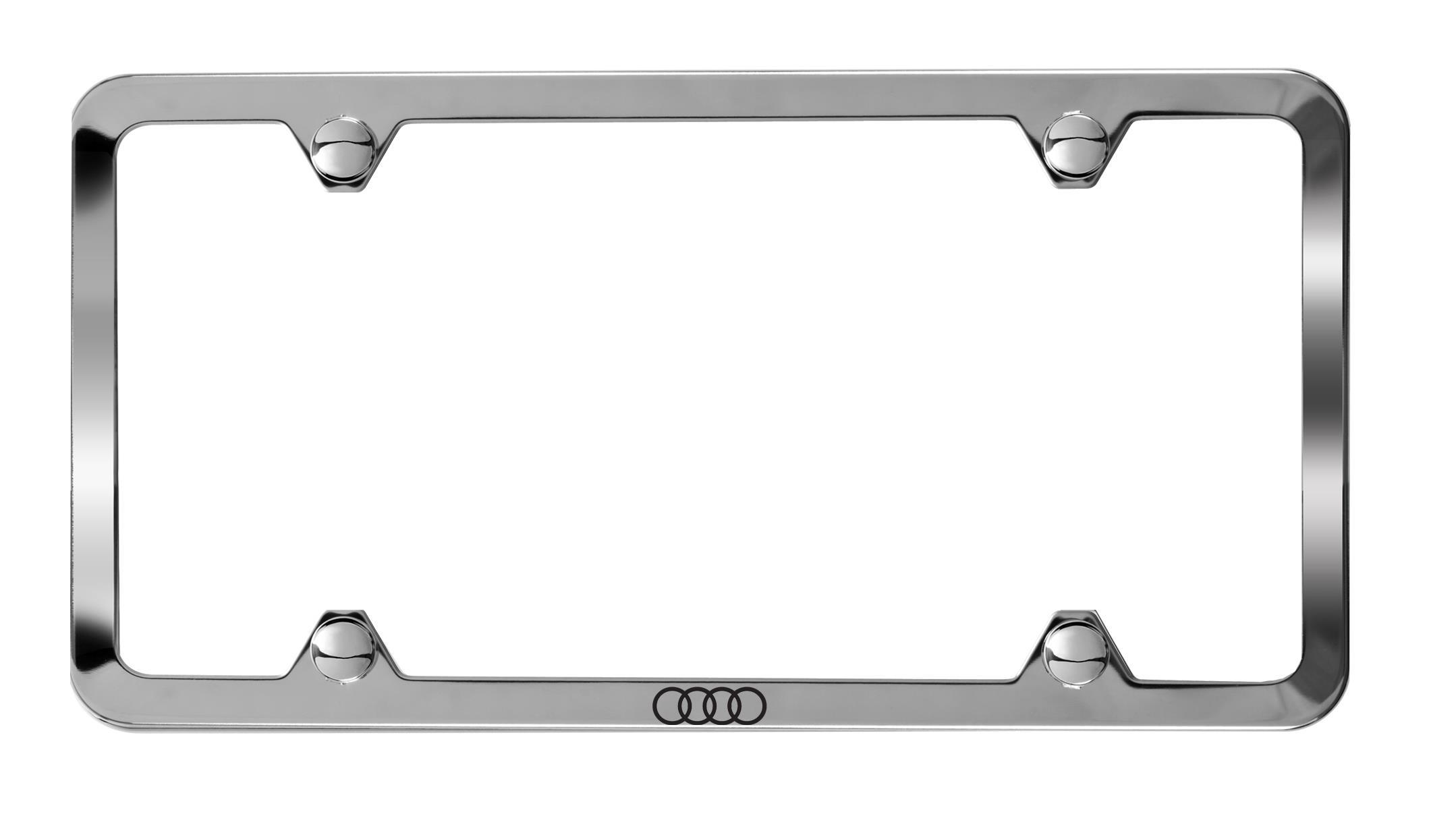 AUDI Genuine OEM License Plate Frame Stainless Steel 8K0-071-801-DX9