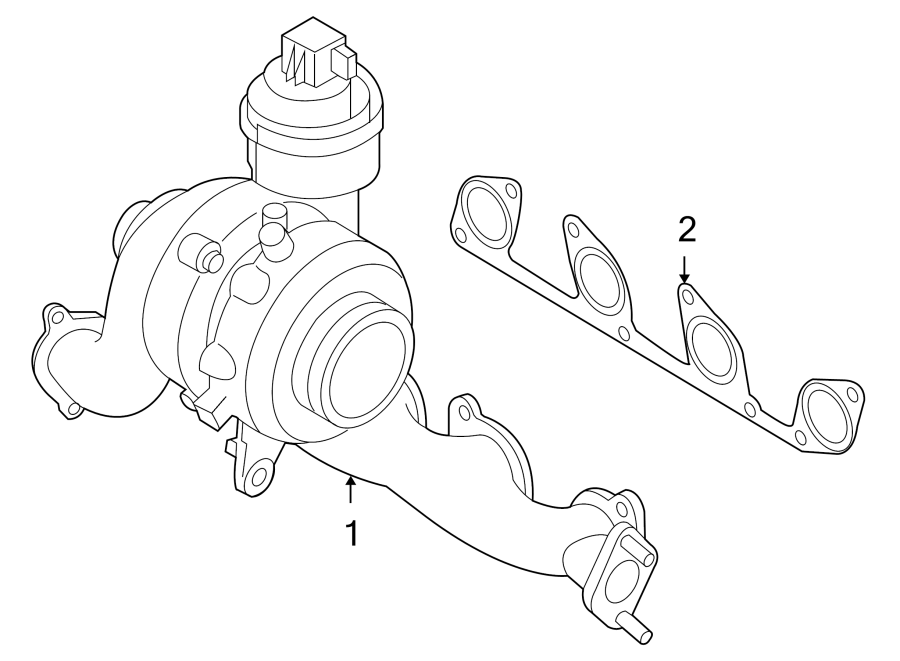 2010 audi a3 exhaust manifold  exmanturbo  turbocharger