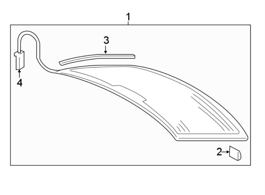 Audi A3 Tdi Premium Sedan Glass  Seal   Rear  Lower