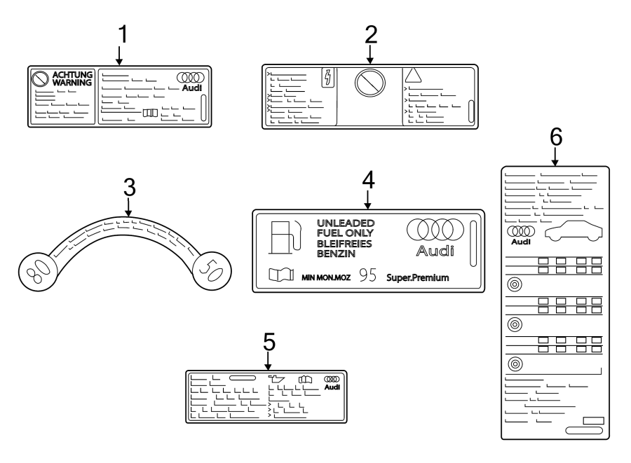 Audi A3 A  C System Information Label  Convertible