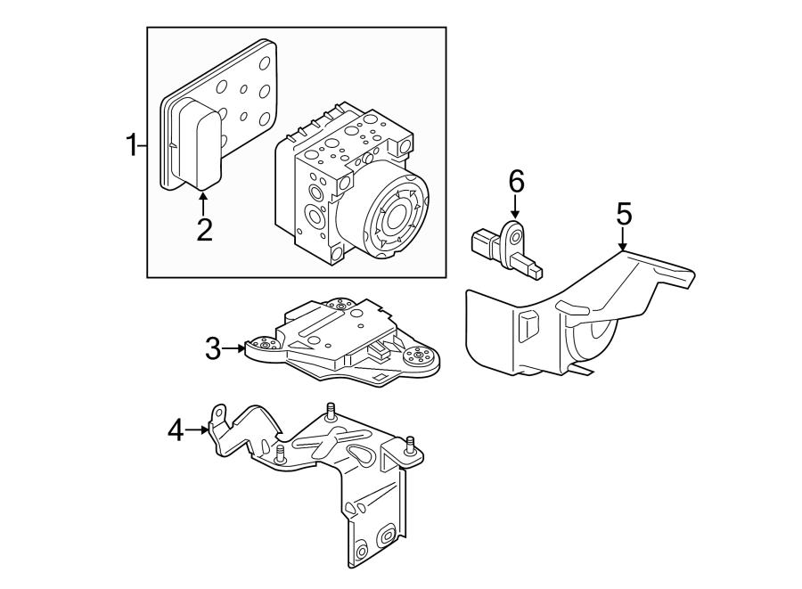 2015 Audi A3 Abs Modulator Bracket  Lower   Convertible