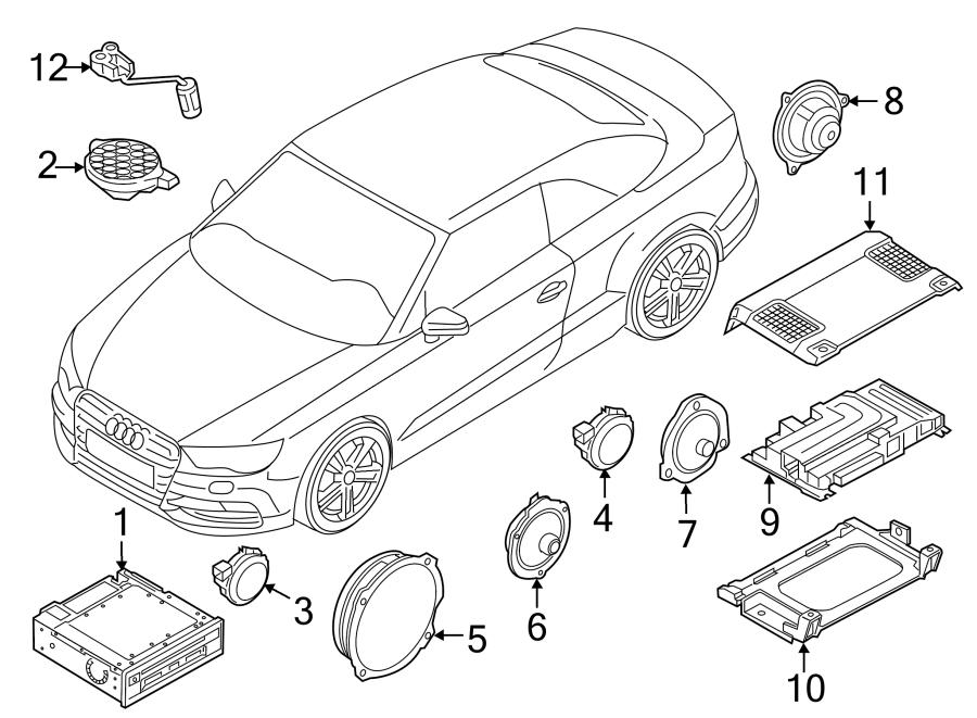 2015 Audi A3 Premium Convertible 1 8l A  T Fwd Speaker