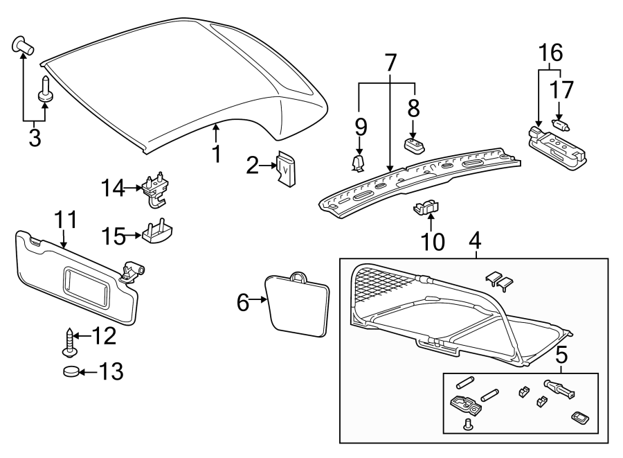 8v7862951c - air deflector  windbreak  convertible   trim  interior  group  body