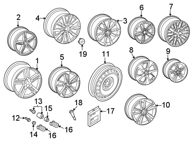 2017 Audi A4 Wheel  Partqualifier  Alloy  Notice
