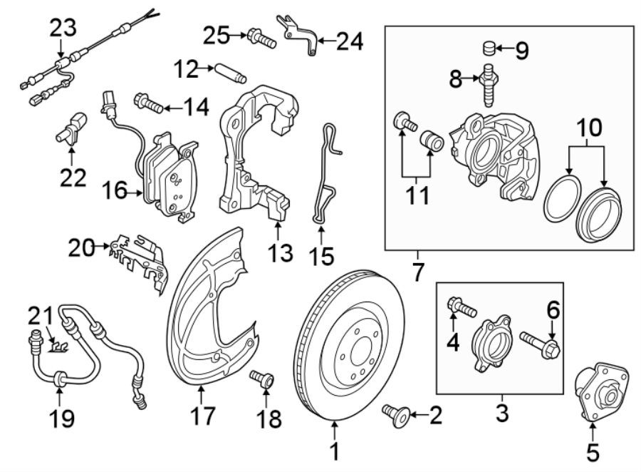 Audi A4 Abs Wheel Speed Sensor Wiring Harness  Rotor