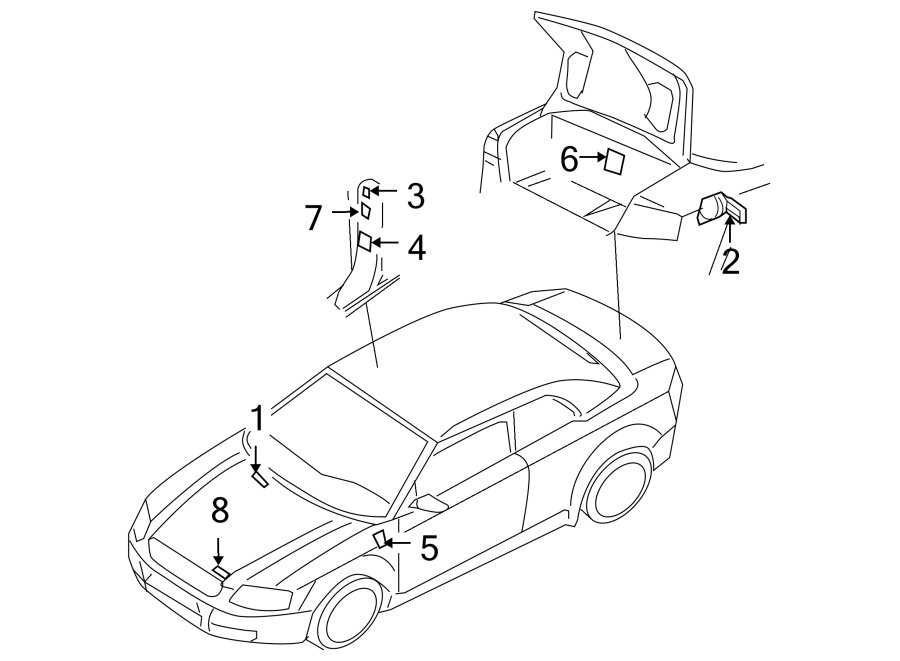 Audi A4 A  C System Information Label  2005  2006