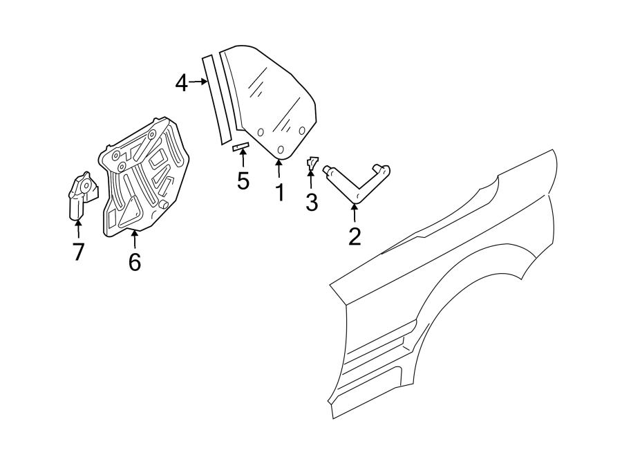 audi a4 bushing  quarter  glass  panel  bracket  convertible  clip  mount spacer