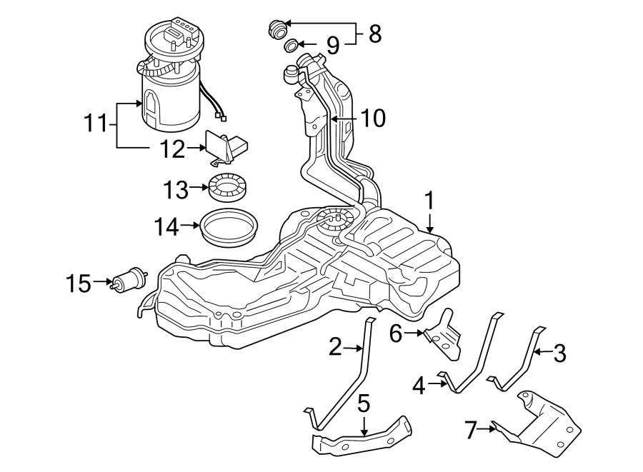 Diagram FUEL SYSTEM COMPONENTS. for your Audi
