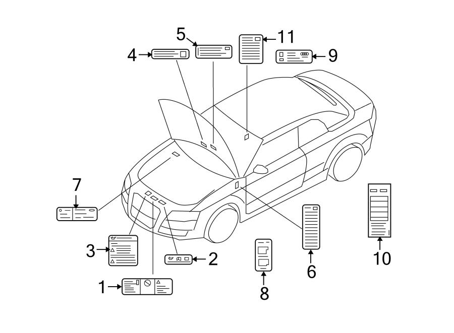 Audi A4 Label. Warning, Disposal, LITER - 4E0010530 ...