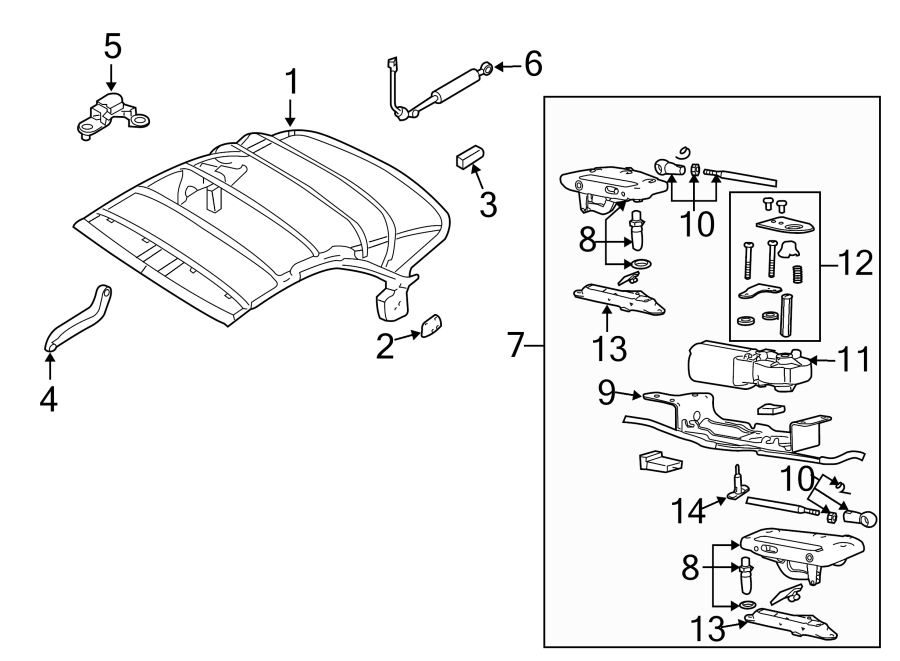8h0871401b - convertible top latch  convertible top latch  lock assembly  from vin