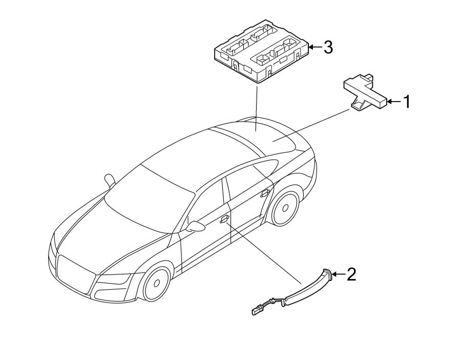 Audi A4 Keyless Entry Antenna  Rear  Console  Door