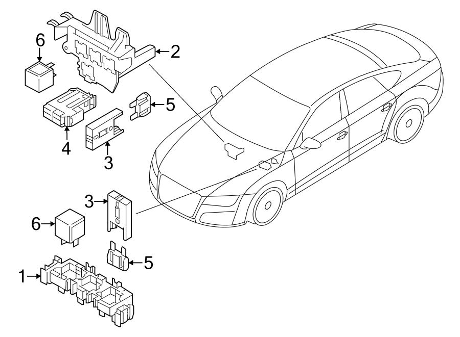 Audi A7 Relay   Rear  - 4h0951253a