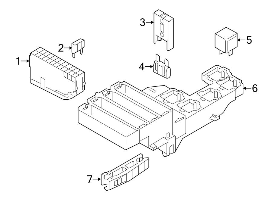 Audi A7 Fuse  Compartment  Box  Luggage