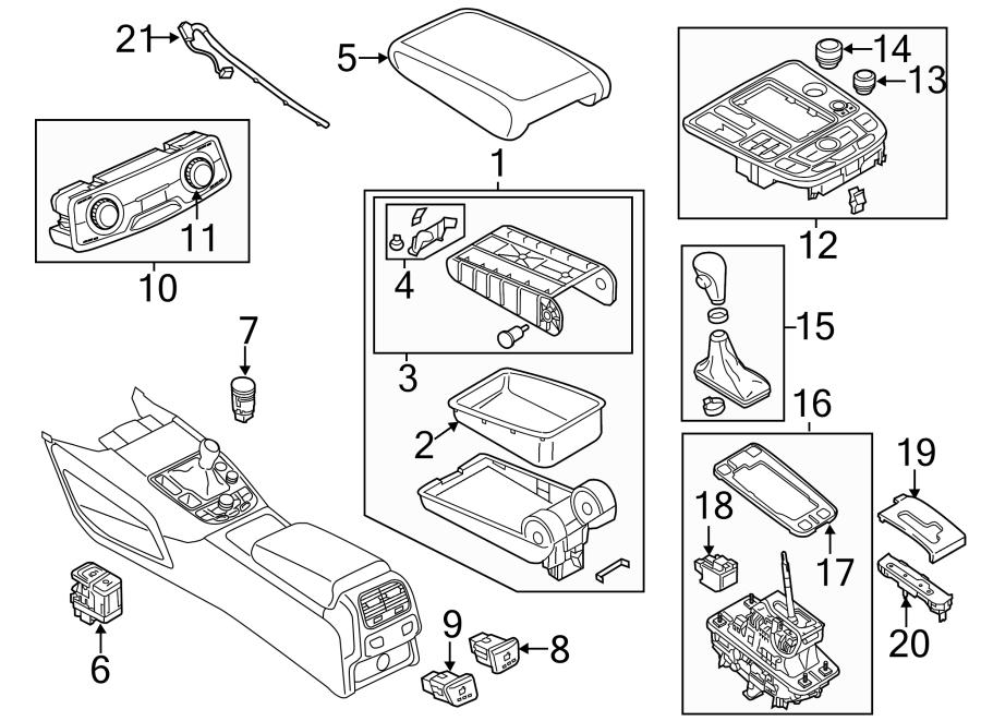Audi A7 Automatic Transmission Shift Indicator  Magnet
