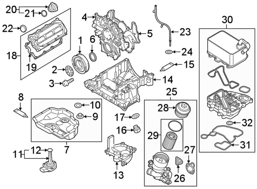 Audi Q5 Engine Oil Cooler Gasket  Diesel - 059117070