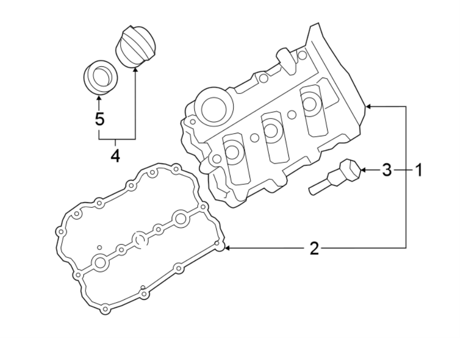 06b103831j - engine valve cover bolt  valve cover screw  included with  valve cover