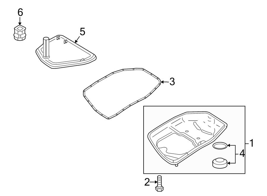 2009 Audi S5 Automatic Transmission Oil Pan Bolt  3 2