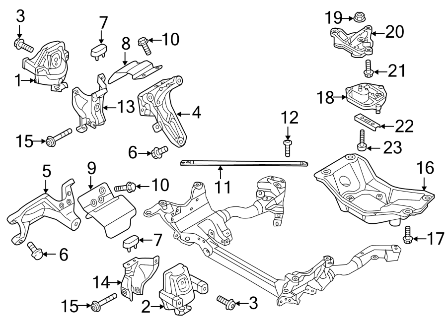 2014 Audi S5 Prestige Convertible Engine Mount  Rear  - 8r0199381ar