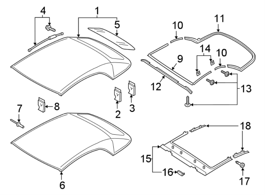8w7898406 - convertible top seal  convertible   side  strip  body