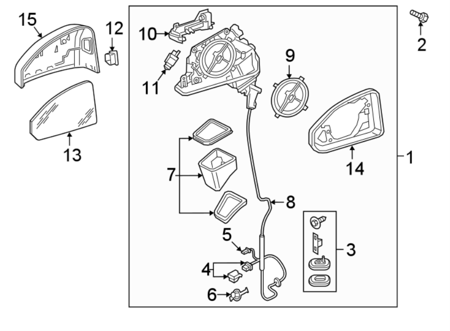 2018 Audi A5 Mirror  Connector  Door  Drive Motor  Wiring