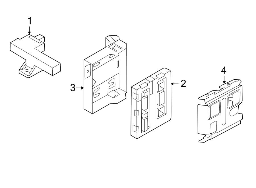 2014 audi bracket  module  mount  control  body  keyless entry - 8f0907461