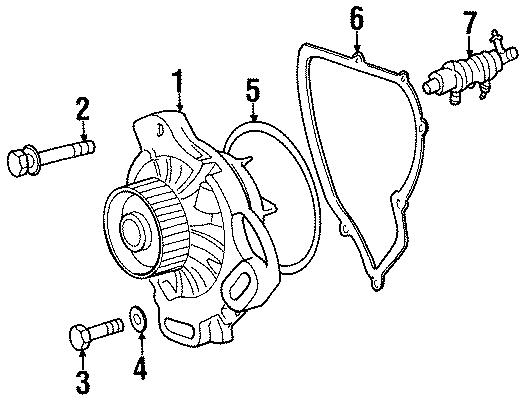 078121006x - cooling pump  engine water pump  water pump assembly