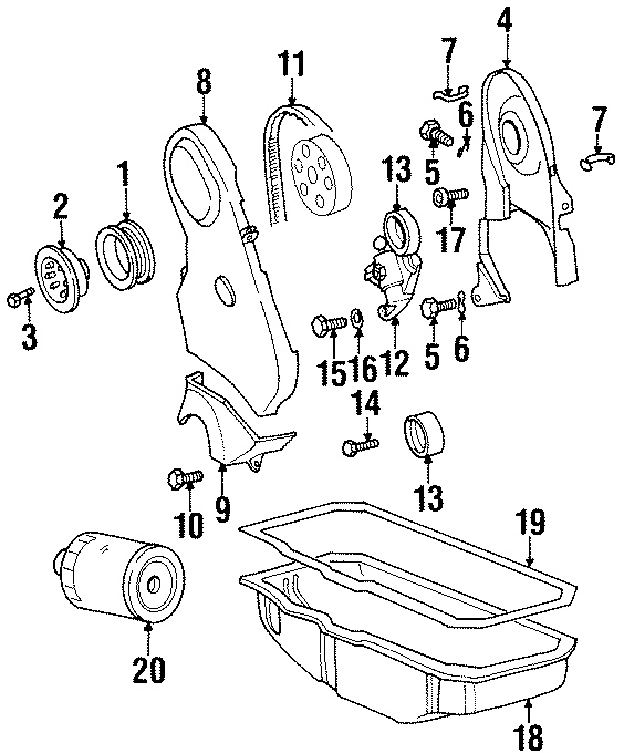 n01021533 - screw  cover  timing  bolt  engine  liter  transaxle