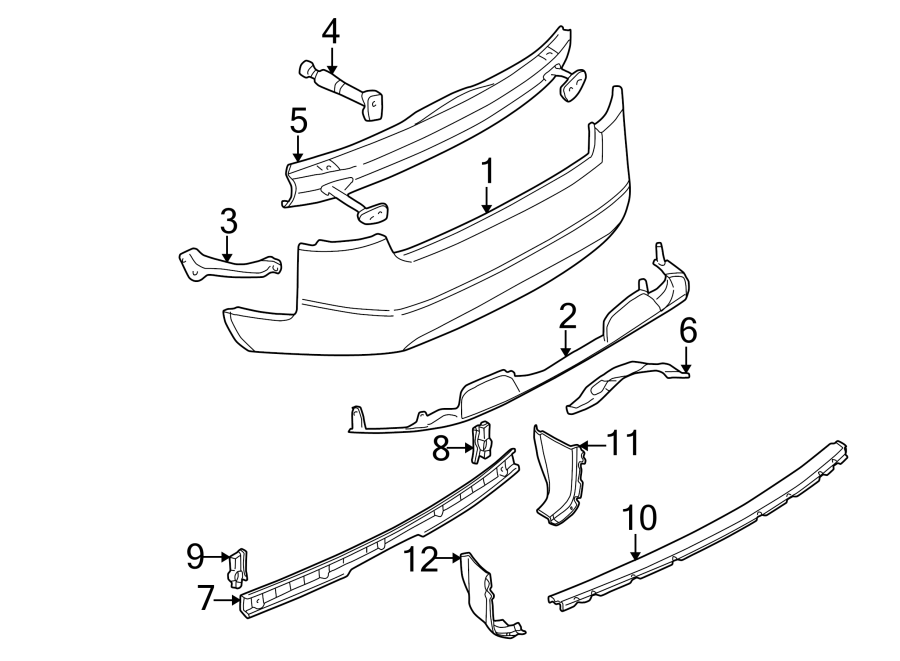 4b0807378a - bumper impact absorber  sedan  seat  sonar
