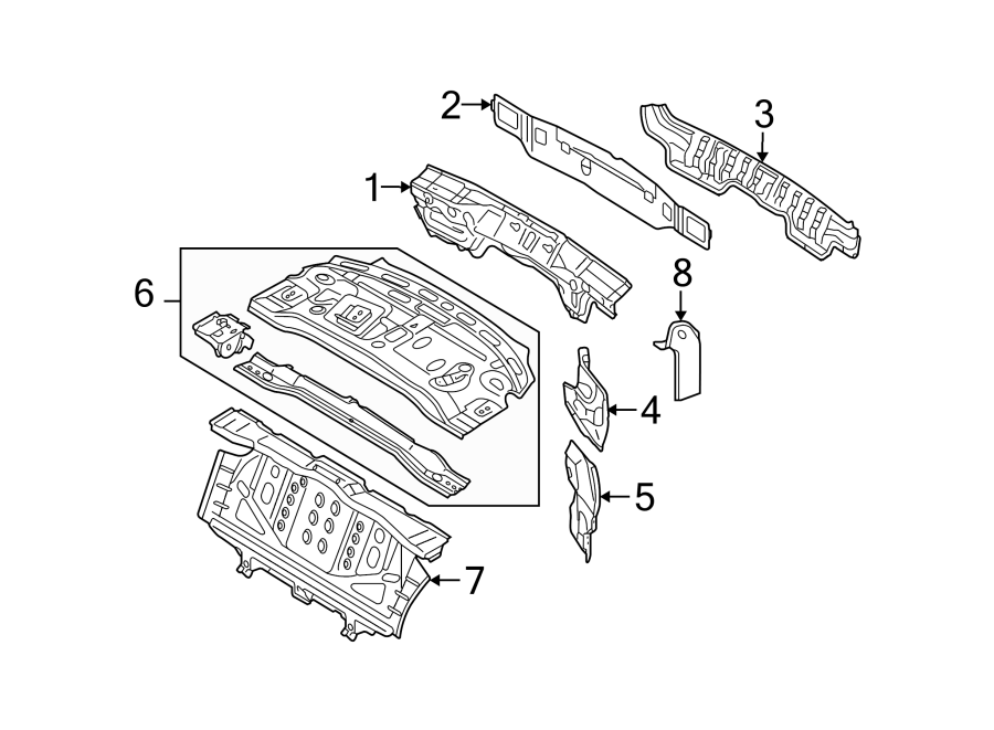 4f5810613a - side body panel reinforcement  side reinforced  sedan