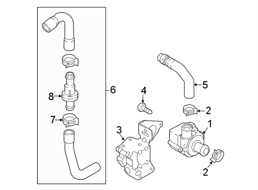 2016 audi auxiliary pump  engine auxiliary water pump