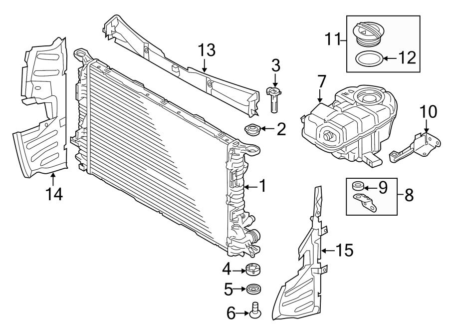4g0121283bk - Radiator Support Baffle  Diesel  Main  Air  Duct  Liter