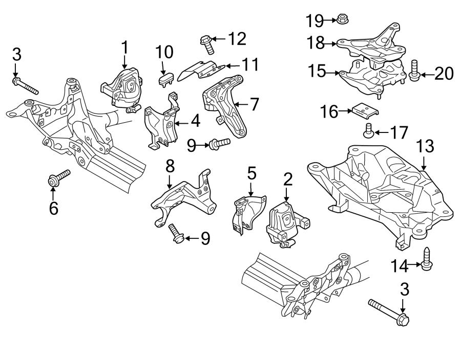 Audi A6 Automatic Transmission Mount  Liter  Engine