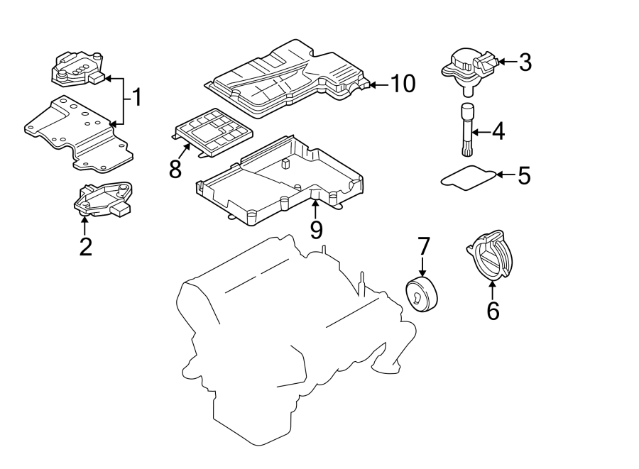 4d0905351 - ignition control module  liter  system  style