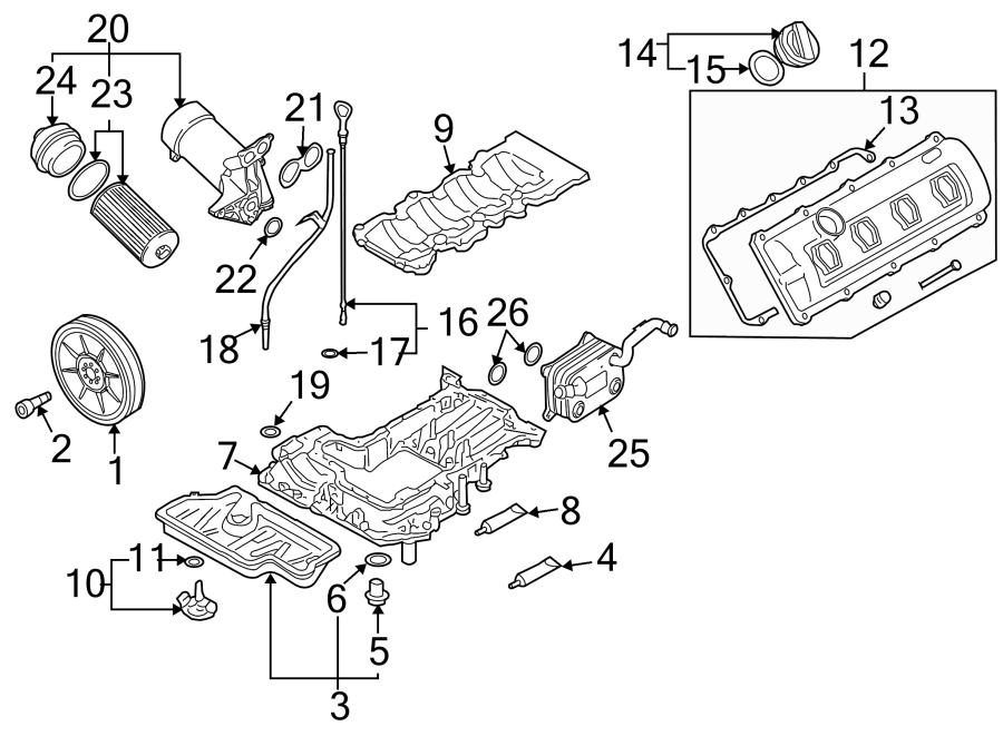 audi a8 engine oil cooler 4 2 liter 2007 10 079117015b. Black Bedroom Furniture Sets. Home Design Ideas