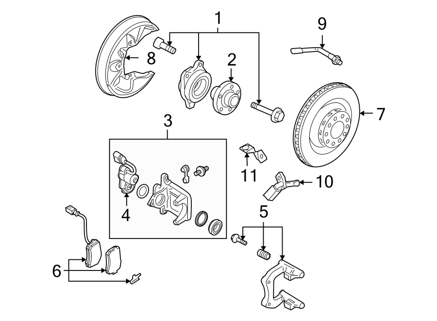 4e0998281b - parking brake actuator  a8  s8  motor  liter  suspension