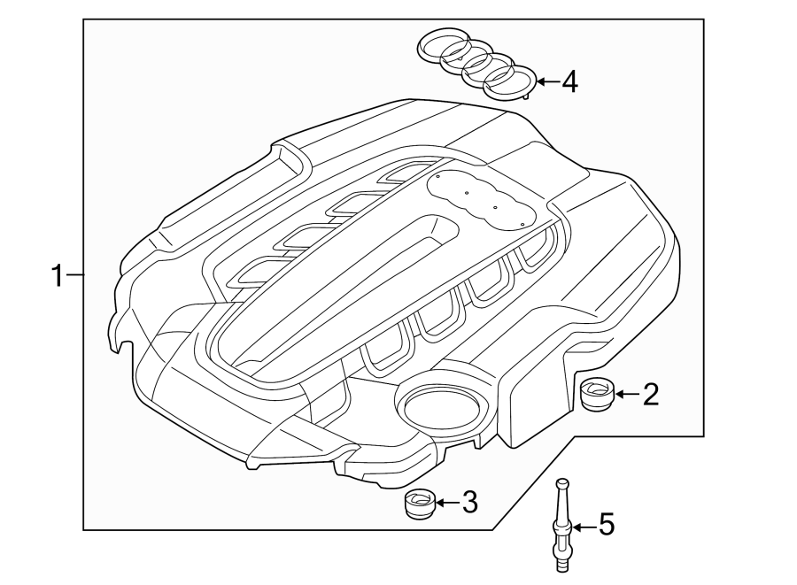 2016 Audi A8 Cover  Engine  Connector  3 0 Liter Diesel  4