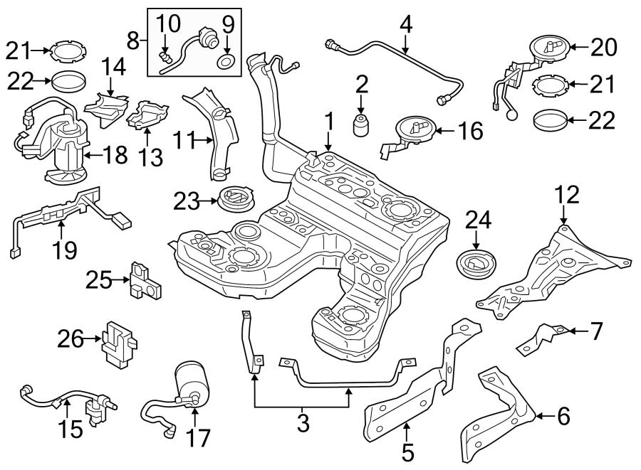 2015 Audi A8 Electric Fuel Pump  Tank  Gas  Engine