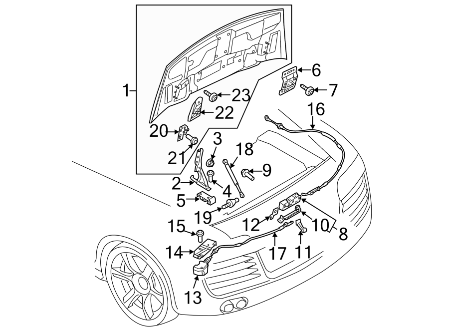 8k0823509g - lock  switch  convertible  hood