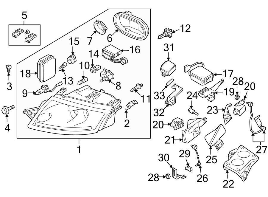 2000 Audi Tt Base Coupe 1 8l M  T Quattro Headlight Socket