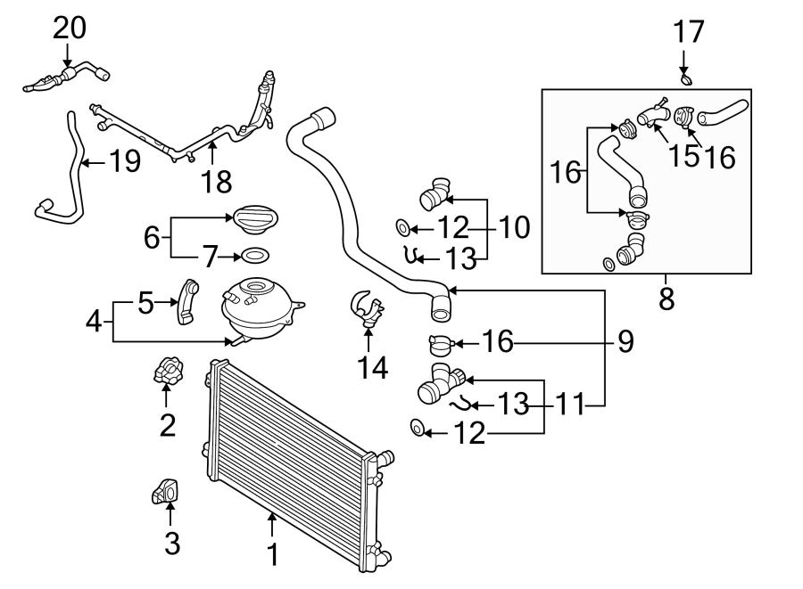 Audi Tt Radiator Coolant Hose  Upper   Trans  Manual