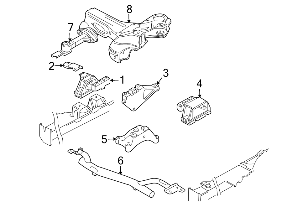 Audi Tt Bracket  Support  Mount  Transmission  Engine
