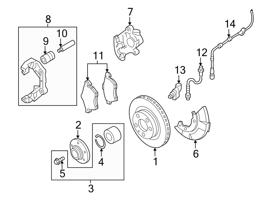audi a6 bolt  bearing  mount  hub  liter  front  right - 4a0407643a
