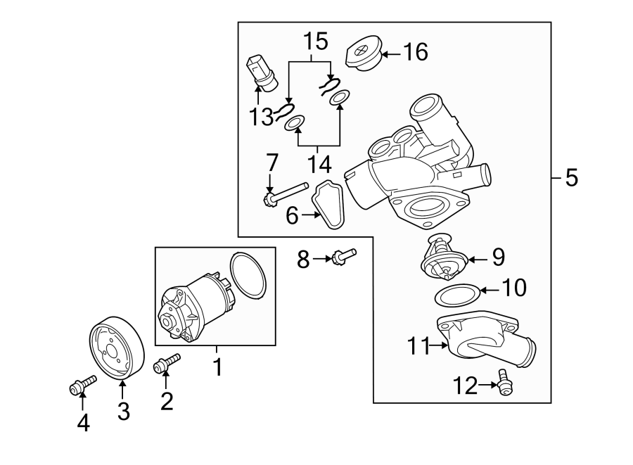 2008 Audi Tt Engine Coolant Thermostat Kit  3 2 Liter