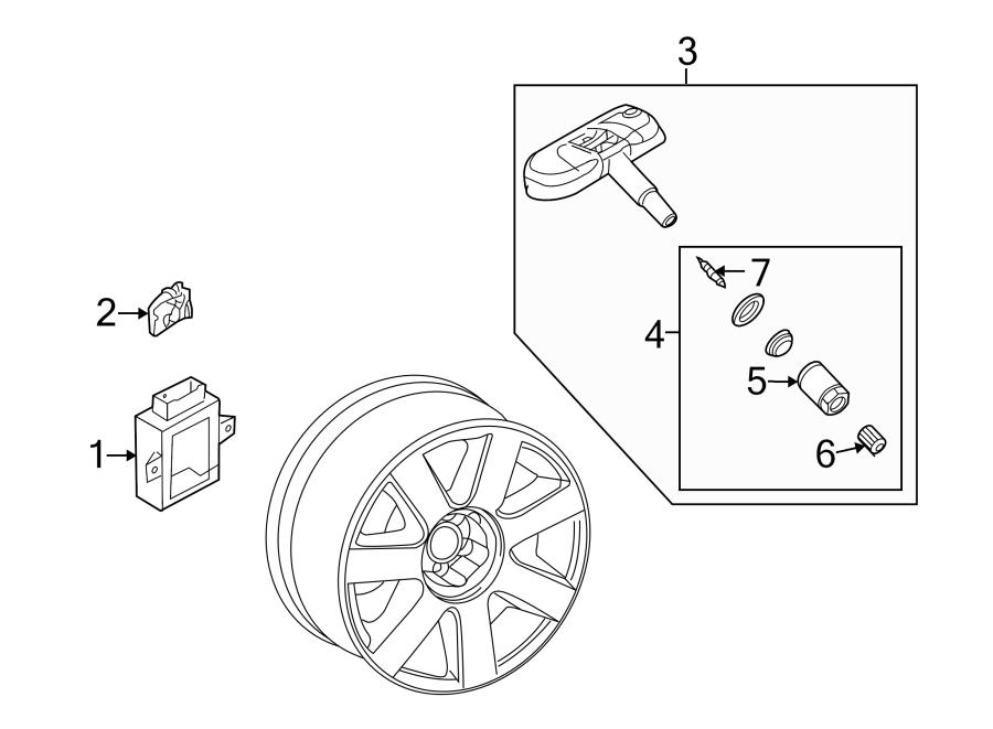 2007 audi sensor  pressure  tire  monitor  components