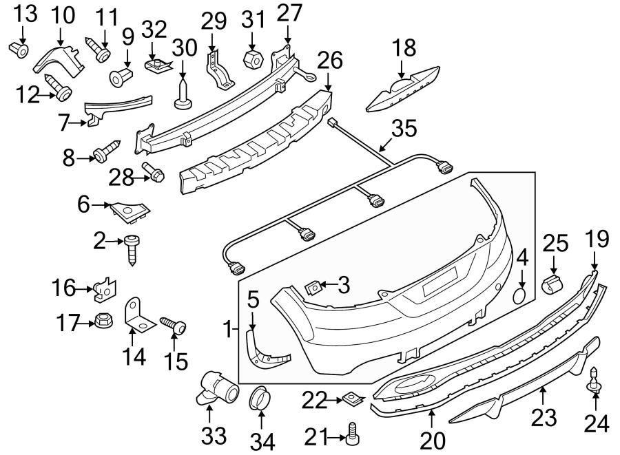 8j0807303fgru - bumper cover  upper cover  w  tt rs  w  o park sensor  w  o park sensor