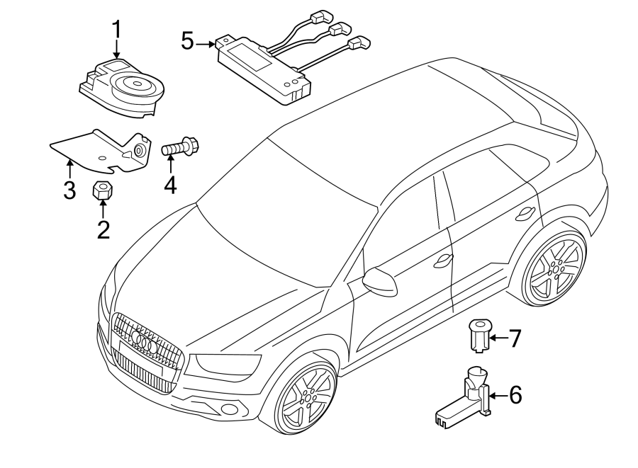 2018 Audi Q3 Anti-theft Infrared Sensor  Anti